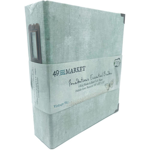 49 and Market - Foundations Essential Binder - 6 Ring 6x8 Album - Vintage Sky