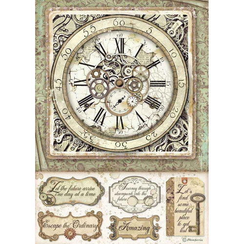 **Pre-Order** Stamperia - Lady Vagabond - A4 Rice Paper - Clock with Mechanisms