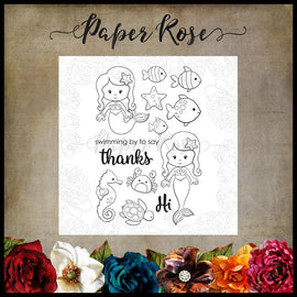 Paper Rose - Mermaid Magic Clear Stamp Set