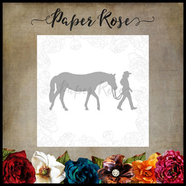 Paper Rose - Girl with Horse Die (Small)
