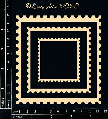 "Dusty Attic - ""Get Framed - Postage Square"""
