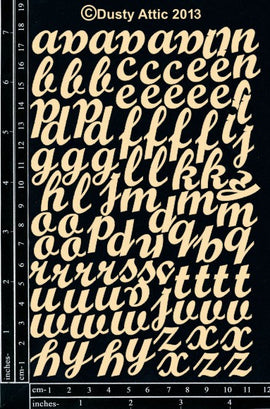 "Dusty Attic - ""Alphabet Set - Mini Script"