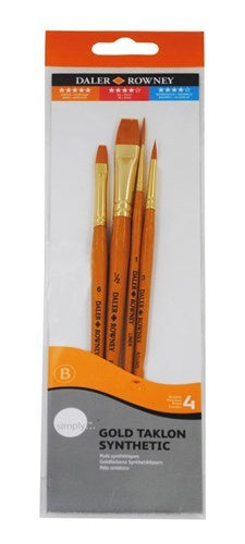 Daler Rowney Brush Set - Simply Gold Taklon (401)