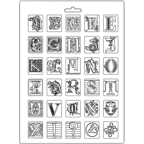 **Pre-Order** Stamperia - Calligraphy - Soft Maxi Mould A4 Size - Alphabet