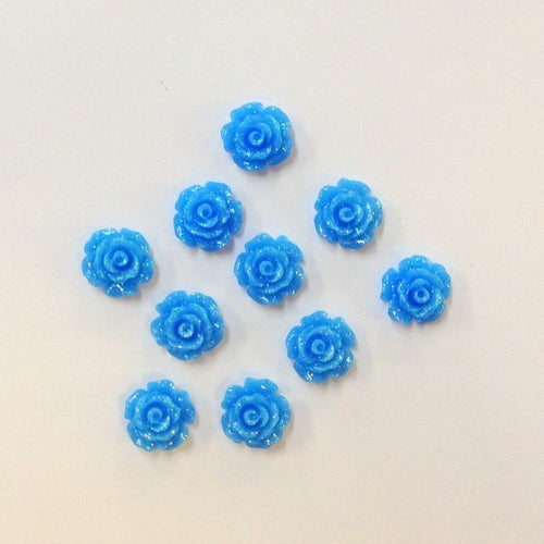 Artfull Embellies - Resin Shapes - Blue Roses 1cm