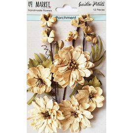 49 and Market - Flowers - Garden Petals - Parchment