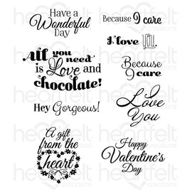 Heartfelt Creations - Heartfelt Love - Sentiments - Stamp Set