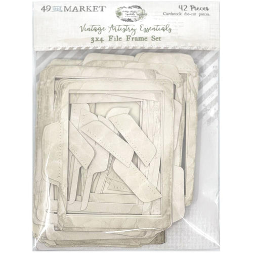 "49 and Market - Vintage Artistry Essentials - 3x4"" File Frame Set"