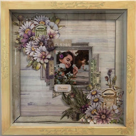 "Embellish It - 12x12"" Shadow Box Frame - Pale Pink"