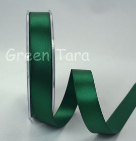 Green Tara Double-Sided Satin Ribbon - 6mm - Xmas Green