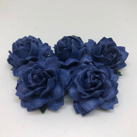Cottage Roses - Royal Blue