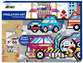 Avenir - Pixelation Art - Transportation