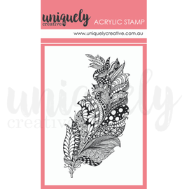 Uniquely Creative - Outback Divine - Mini Acrylic Stamp -Zentangle Feathers