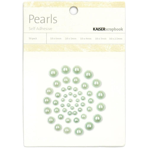 Kaisercraft Pearls - Ice Green