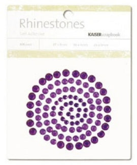 Kaisercraft Rhinestones Square - Dark Purple