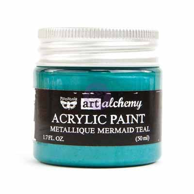 Prima Marketing - Finnabair Art Alchemy - Metallique Acrylic Paint - Mermaid Teal
