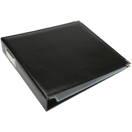 We R Memory Keepers - Classic Leather 3 Ring 12x12 Binder Album - Black