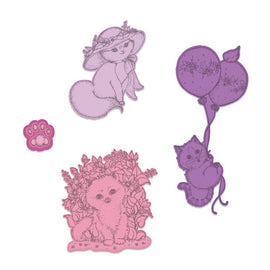 Heartfelt Creations - Purr-fect Posies - Playful Miss Kitty Die