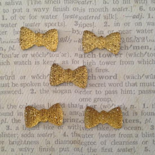 Artfull Embellies - Crystal Sparklet Bows - Gold
