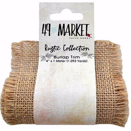 49 and Market - Rustic Collection - Burlap Trim - Natural