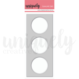 Uniquely Creative - Slim Line Dies - Slim 3 Circle Window Die