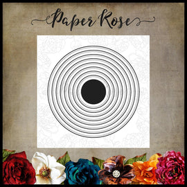 Paper Rose - Nested Circles Die Set