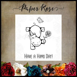 Paper Rose - Hippo Day Stamp