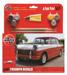 Airfix - Medium Starter Set - Triumph Herald 1:32 - Red (Skill Level 1)
