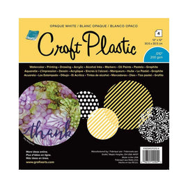 Grafix - Craft Plastic - 12x12 Opaque White