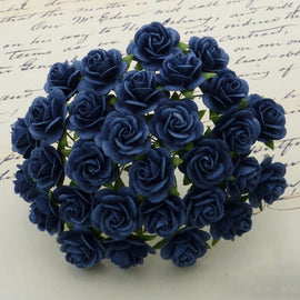 Open Roses - Navy Blue
