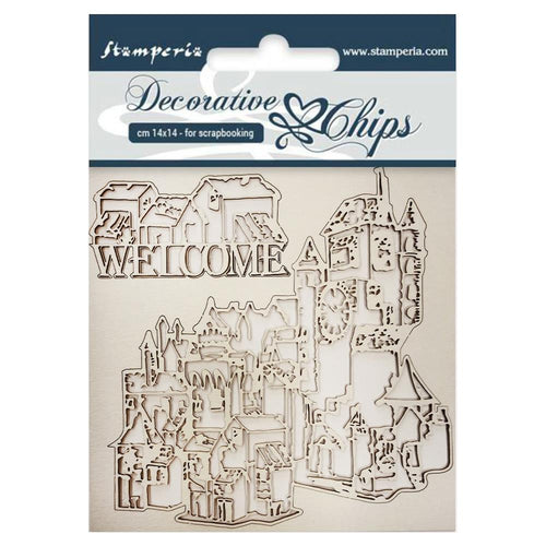 Stamperia - Decorative Chips - Welcome (14x14cm)