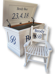 Deluxe Personalised Toy Box - The Twinkle Toy Box Company