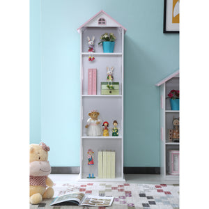Tall Dollshouse Bookcase with Pink Roof - The Twinkle Toy Box Company