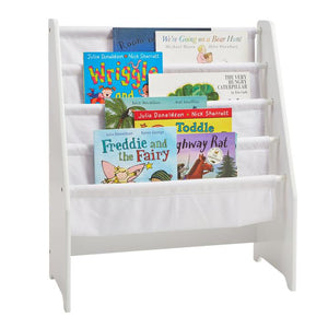 White Wooden Book Display Sling