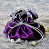 Marisa D'Amico® Silk Drawstring Jewelry Pouch in Purple & Silver