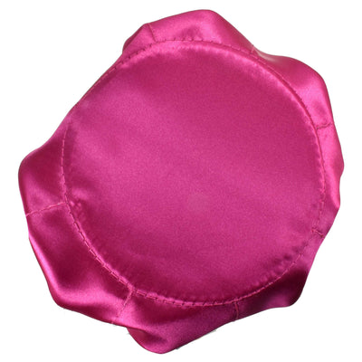 Satin Drawstring Jewelry Pouch, 16 Pockets, Fuchsia