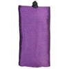 Poly Dupioni Silk Soft Eyeglass Case, Purple & Black