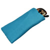 Poly Dupioni Silk Soft Eyeglass Case, Turquoise & Black