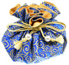Cotton Jewelry Pouch, 8 Pockets, Large Size, Cobalt