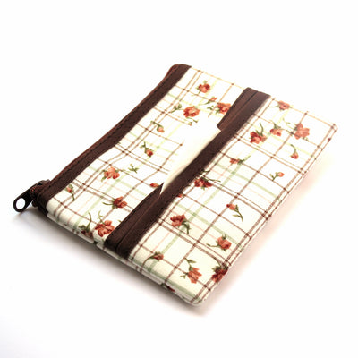 Coin Purse & Pouch, Printed Cotton Fabric