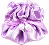 Satin Jewelry Pouch, 16 Pockets, Light Purple