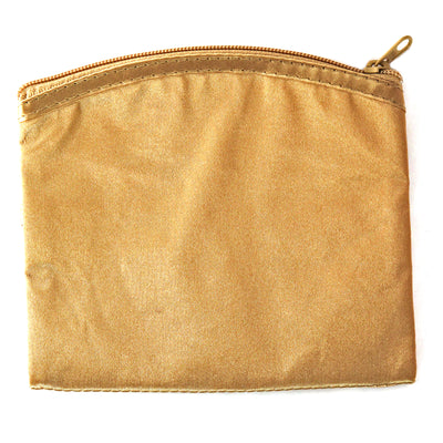 Coin Purse & Pouch, Satin Fabric, Gold