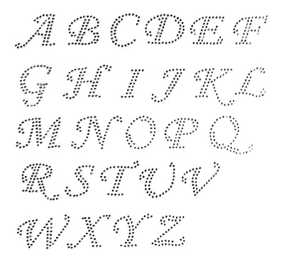 Cursive Style Upper Letters