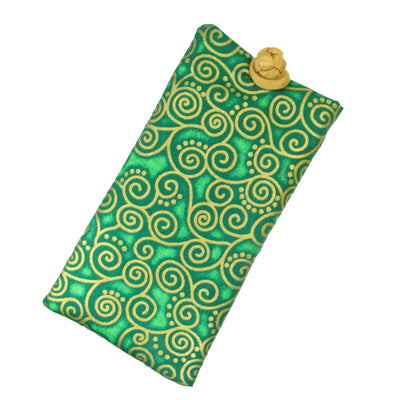 Cotton Soft Eyeglass Case, Green
