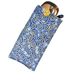 Silk & Cotton Soft Eyeglass Pouch in Navy Blue