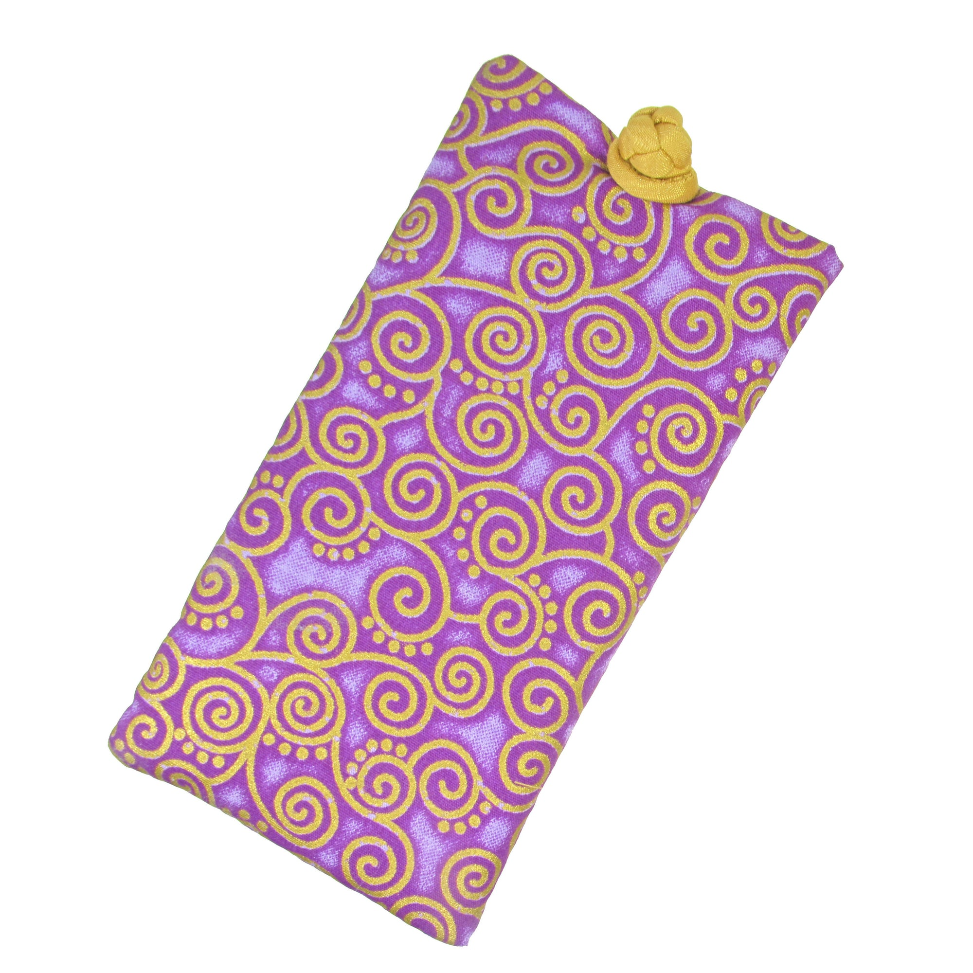 Cotton Soft Eyeglass Case, Purple
