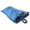 Soft Eyeglass Case (Sunglasses Pouch), Knot and Loop Closure, Poly Dupioni Silk, Blue & Black
