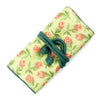 Jewelry Roll, Cotton, Green & Pink