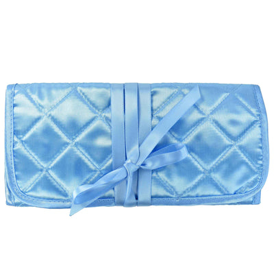 Quilted Satin Jewelry Roll