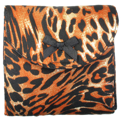 Sanitary Napkin (Sanitary Pad) Case (Bag, Pouch, Holder), Cotton Fabric, Small, Tiger Print